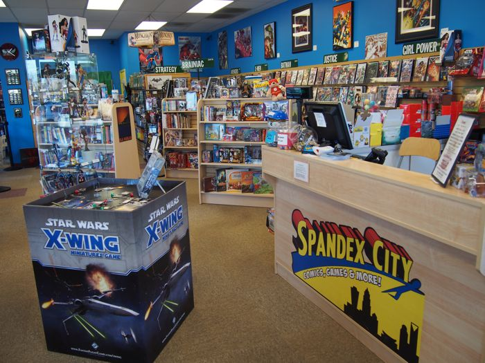 Come visit the all-new Spandex City Comics and Games in Charlotte, NC!